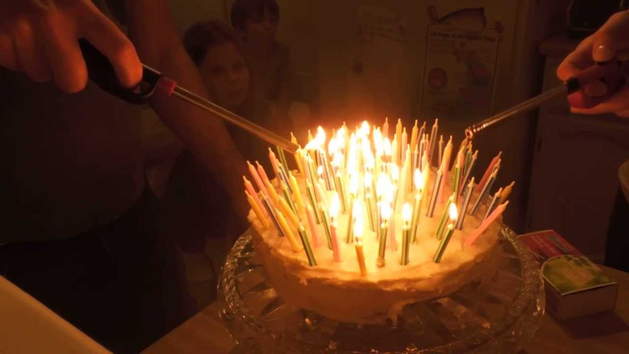 Image Birthday Cake With Lots Of Candles : Celebrate in the Light of 90 Candles- Green Goddess